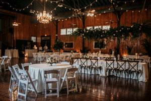 Beautiful wedding venue, The Madison, located near Lafayette, LA set up for a wedding recpeiton.