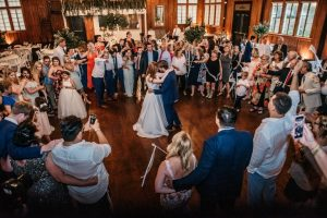 A couple having their first dance at The Madison, a wedding venue near Lafayette, Louisiana.