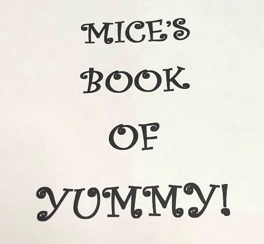 Recipes from Mice's Book of Yummy! A family cookbook with easy to make recipes and more!